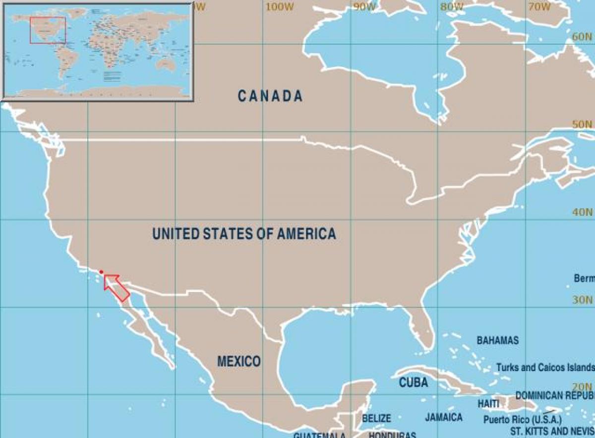 los angeles carte du monde Los Angeles sur la carte du monde   Los Angeles carte d'état